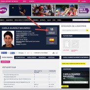 Carla Suárez highlighted at WTA website