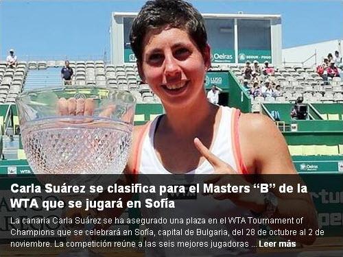 Publicación de la portada de la web de la Real Federación Española de Tenis (RFET)